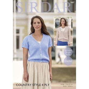 Cardigans in Sirdar Country Style 4 Ply (7887)
