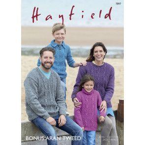 Sweaters in Hayfield Bonus Aran Tweed (7897)