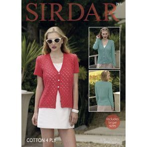 Cardigans in Sirdar Cotton 4 Ply (7911)
