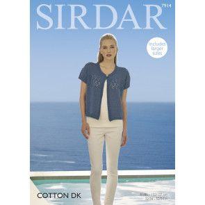 Cardigan in Sirdar Cotton DK (7914)