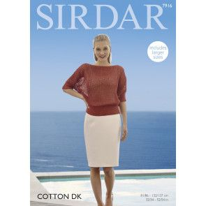Top in Sirdar Cotton DK (7916)