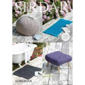 Foot Stool Covers and Rugs knitted in Sirdar Gorgeous (7965)