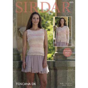 Cardigan and Top in Sirdar Toscana DK (7975)