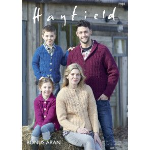 Cardigans in Hayfield Bonus Aran (7987)