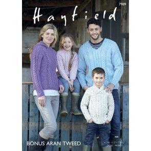 Sweaters in Hayfield Bonus Aran Tweed (7989)