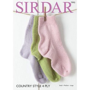 Socks in Sirdar Country Style 4 Ply (7993)