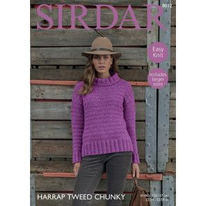 Woman's Tunic Sweater in Sirdar Harrap Tweed Chunky (8012)
