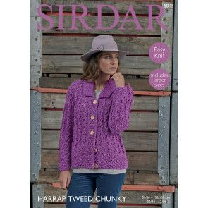 Cardigans in Harrap Tweed Chunky (8015)