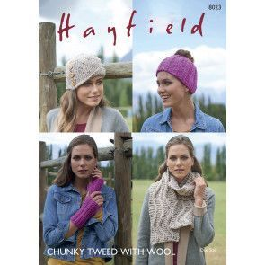 Women's Accessories in Hayfield Chunky Tweed (8023)