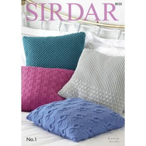 Cushion Covers in Sirdar No. 1 (8050)