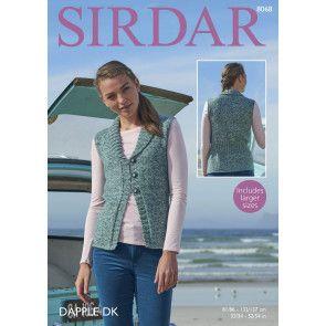 Woman's Waistcoat in Sirdar Dapple DK (8068)