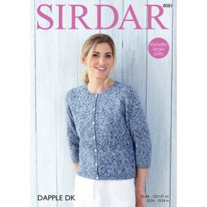 Cardigan in Sirdar Dapple DK (8081)