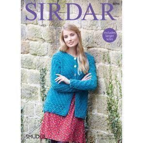 Jacket in Sirdar Smudge (8094)