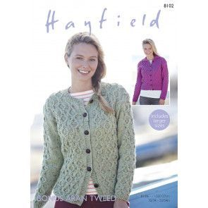Cardigans in Hayfield Bonus Aran Tweed (8102)