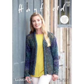 Jacket in Hayfield Illusion DK (8109)