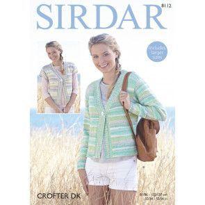Woman's Jacket in Sirdar Crofter DK (8112)