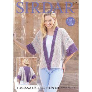 Jacket in Sirdar Toscana DK with Sirdar Cotton DK (8119)