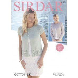 Cardigans in Sirdar Cotton DK (8123)