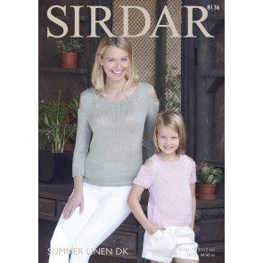 Tops in Sirdar Summer Linen DK (8136)
