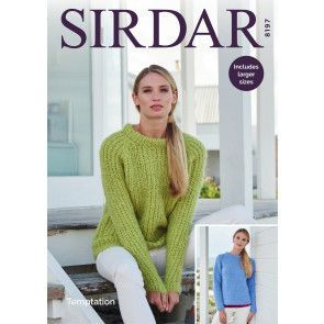 Sweaters in Sirdar Temptation (8197)