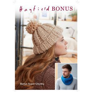 Bobble Hat and Snood in Hayfield Bonus Super Chunky (8211)