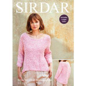 Top in Sirdar No.1 Aran Stonewashed (8269)