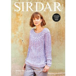 Sweater in Sirdar No.1 Aran Stonewashed (8274)