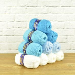 Hayfield Bonus DK Value Pack - Blue Mixture