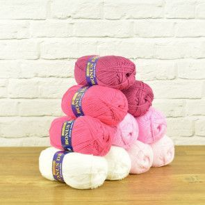 Hayfield Bonus DK Value Pack - Pink Mixture