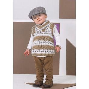 Sweater and Slipover in Stylecraft Wondersoft DK Prints (8750)