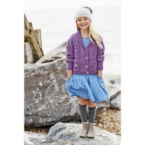 Girls Cardigans in Stylecraft Life DK (9194)