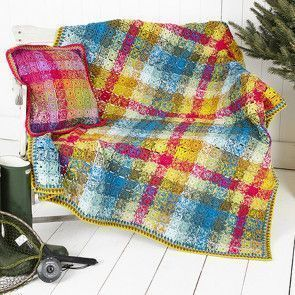 Blanket and Cushion Cover in Stylecraft Special DK (9255)