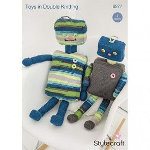 Robots in Stylecraft Special DK and Wondersoft Merry Go Round DK (9277)