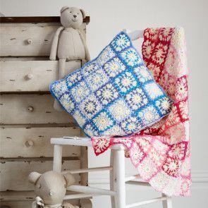 Blanket and Cushion in Stylecraft Wondersoft DK and Wondersoft Merry Go Round DK (9328)