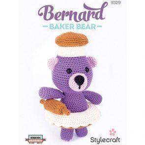 Amigurumi Bernard Baker Bear in Stylecraft Classique Cotton DK (9329)