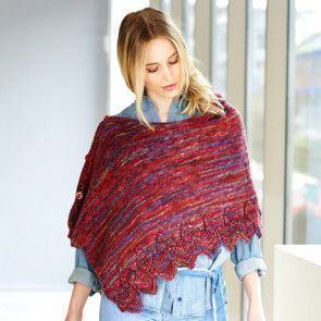 Top and Poncho in Stylecraft in Batik Elements DK (9407)