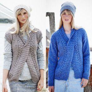 Sweater and Slipover in Stylecraft Alpaca Tweed DK (9451)