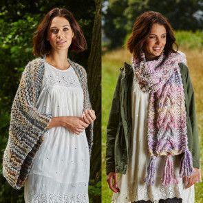 Shawl, Cowl, Collar and Scarf in Stylecraft Swift Knit Mega (9466)