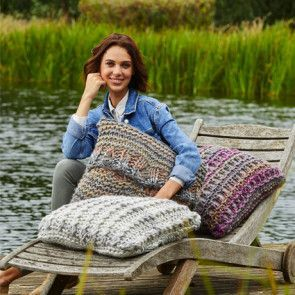 Cushion Covers in Stylecraft Swift Knit Mega (9468)