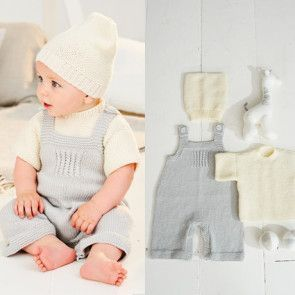 T-Shirt, Dungarees and Hat in Stylecraft Bambino DK (9498)