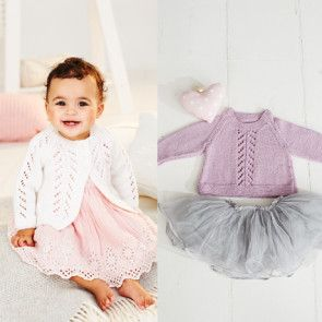 A-Line Sweater and Cardigan in Stylecraft Bambino DK (9499)