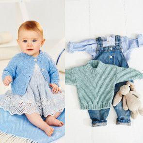 Sweater and Cardigan in Stylecraft Bambino DK (9500)