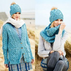Cardigan, Snood and Hat in Stylecraft Special Aran with Wool (9554)