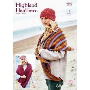 Shawls and Hats in Stylecraft Highland Heathers DK (9862)