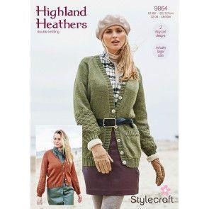 Cardigans in Stylecraft Highland Heathers DK (9864)