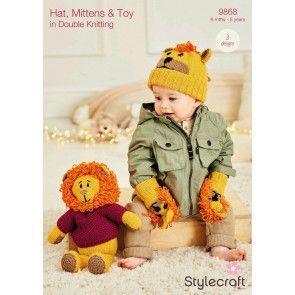 Hat, Mittens and Toy in Stylecraft DK (9868)