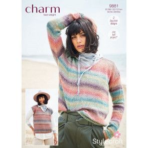 Sweater and Tank Top in Stylecraft Charm (9881)