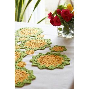 Table Mat, Coaster And Runner Crochet Patterns