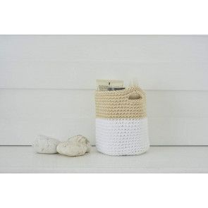 Bathroom Storage Basket Crochet Pattern