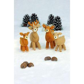 Knitted Deer Family